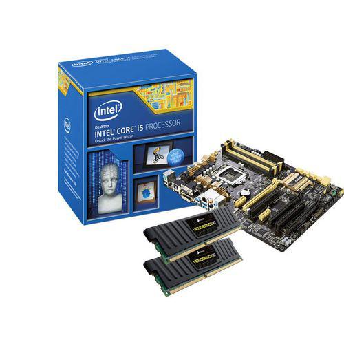 Kit d'évolution processeur Intel i5 4670K + carte mère Asus Z87-A + Mémoire DDR3 Corsair Vengeance LP 8 Go