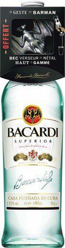 Lot de 2 bouteilles de Bacardi Supérior ou gold 70 cl (via bon de réduction)
