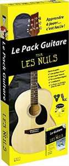 Pack Guitare pour les Nuls (livre + guitare Kona + 3 médiators + housse de transport)