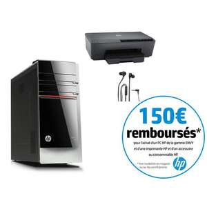 PC HP Envy 700-422nf (i7-4790, RAM 8Go, 1To, GTX 745, Win 8.1) + Imprimante HP Officejet 6230 (ODR 150€)