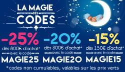 -15% dès 150€ d'achat, -20% dès 300€ et -25% dès 800€