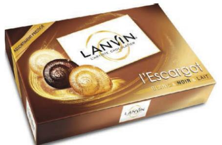 Boite de chocolats Escargots de Lanvin 245g
