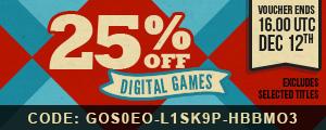 25% de réduction sur les jeux vidéo PC