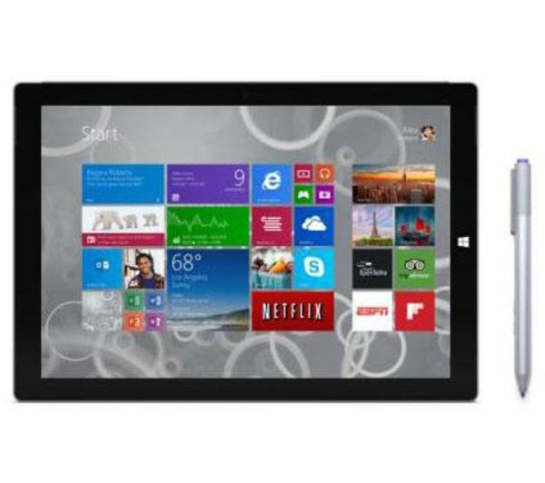 """Tablette Microsoft Surface Pro 3 12"""" 64 Go Noir"""