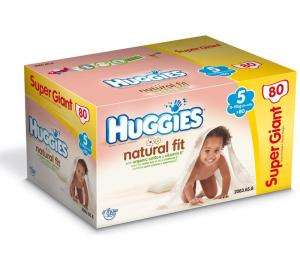 Couches HUGGIES Natural Fit Taille 5 par 80