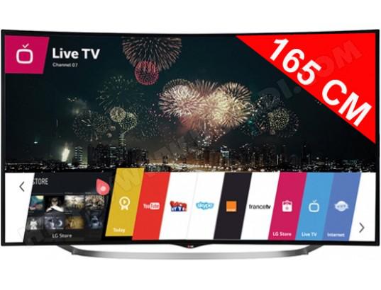 TV LED 4K incurvé 3D 165 cm LG 65UC970V a 1884€ apres ODR de 500€ @ubaldi