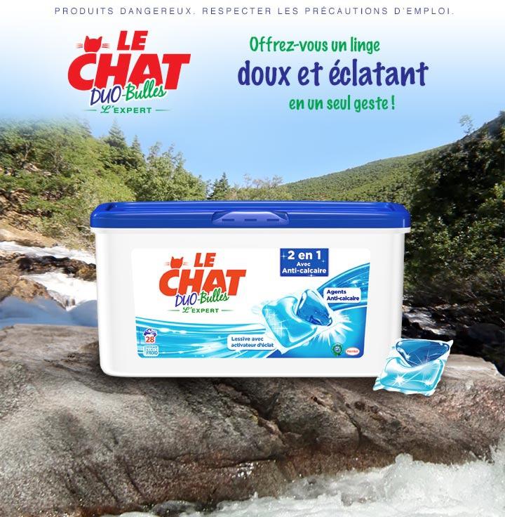 Lessive le Chat Duo-Bulles 2en1 Anti-calcaire (Shopmium + Coupon)