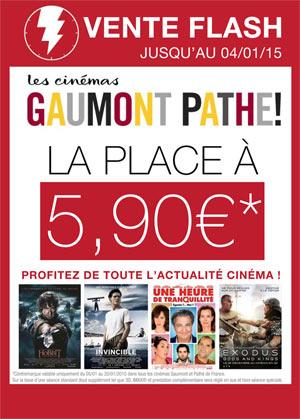 E-billet (Valable en Janvier) pour tous les cinémas Gaumont et Pathé