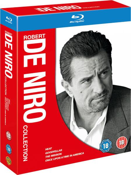 Coffret 4 Blu-rays Robert De Niro Collection (Il était une fois en Amérique + Les affranchis + Heat + Mission)