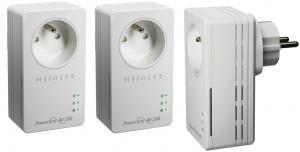 Netgear Pack de 3 CPL 200Mbits avec prise femelle