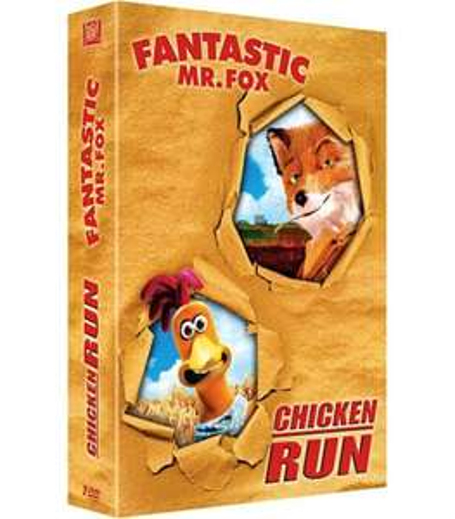 Sélection de Coffret DVD à 1.50€ - Ex : Chicken Run + Mr Fox