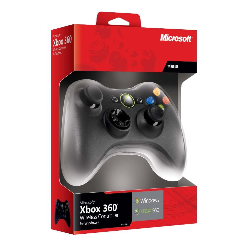 Manette sans fil Xbox 360 avec récepteur sans fil inclus