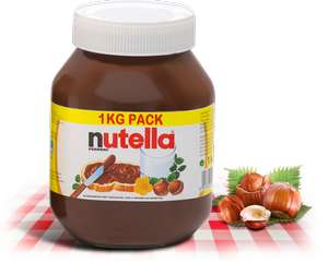 pot de 1kg de Nutella (50% sur la carte)