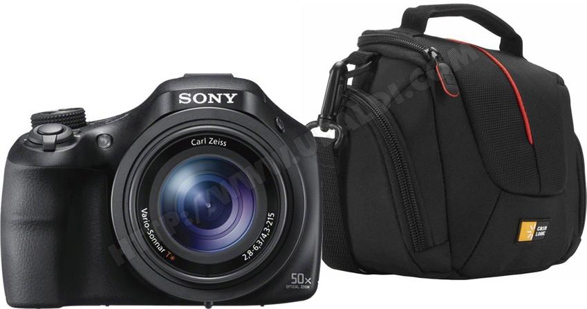 Appareil photo numérique bridge SONY CyberShot DSC-HX400VB noir + Fourre-tout Caselogic DCB304 noir (ODR 50€)