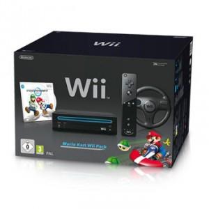 Pack Console Wii +  Mario Kart + volant + telecommande ( en blanche ou noire !! )