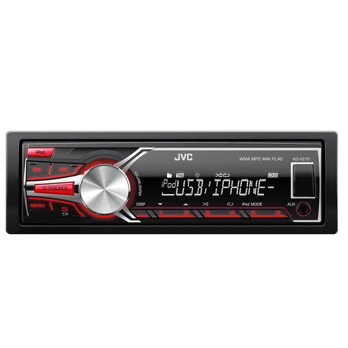 Autoradio JVC KD-X210E - USB / Aux / Flac (avec ODR)