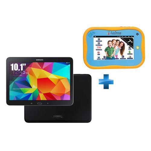 """Tablette 10.1"""" Samsung Galaxy Tab 4 - 16Go  + Tablet Junior 7'' - 4 Go - Wi-Fi - Bleu"""