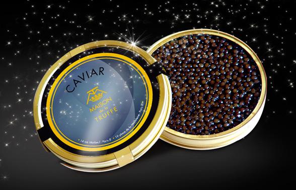 Rosedeal : Caviar Kaspia à la maison de la Truffe - 3 formules à 1€ le gramme - Ex: Boite de 30g