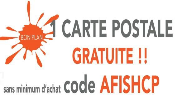 Une carte postale design offerte / Frais de port 1€