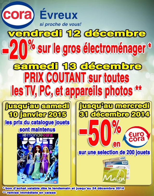 -20% en bons d'achat sur le gros électroménager et prix coûtant sur tout les PC, TV et appareils photos
