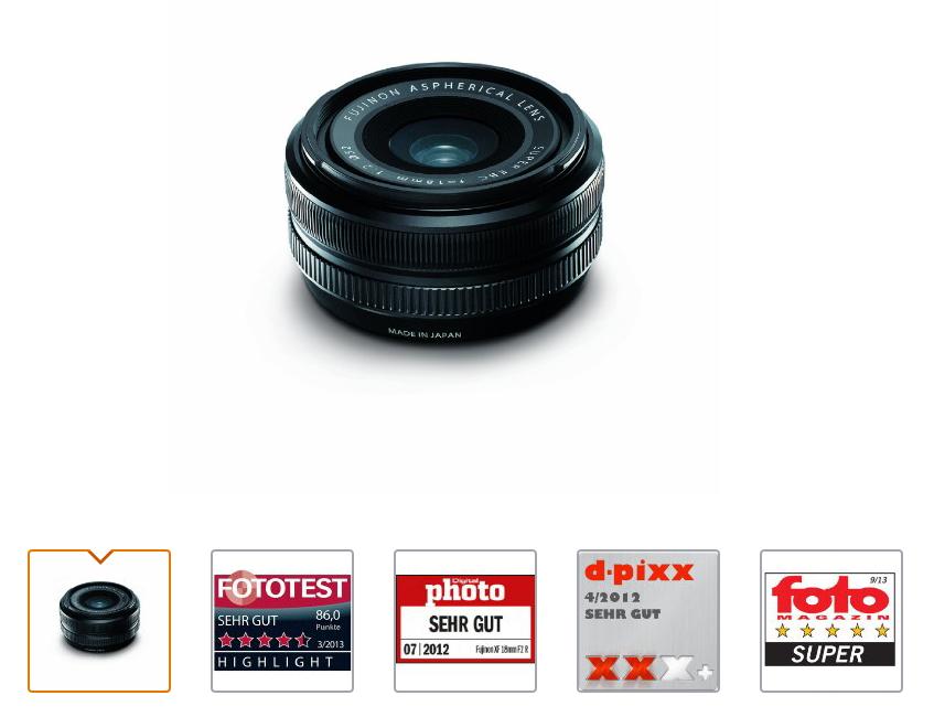 Objectif Fujifilm Fujinon XF 18mm f/2.0 R