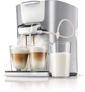 Machine à dosettes HD7857/20 Senseo avec réservoir de lait Latte Duo