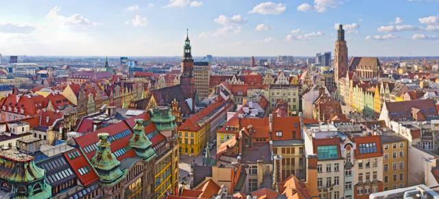 Vol Aller/Retour pour Wroclaw en Pologne