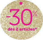 -30% dès 2 articles sur les collections sur Automne Hiver 2014-2015