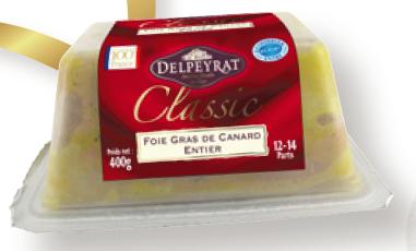 Foie Gras entier Delpeyrat 400g (50% de remise immédiate + 20% sur la carte)