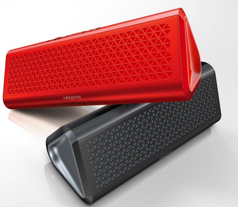 Enceinte Bluetooth Creative Airwave HD (en noir ou en rouge)