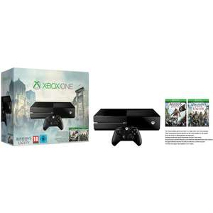 Console Xbox One 500 Go pack Assassin's Creed + Sunset Overdrive + GTA V + Wolfenstein The New Order