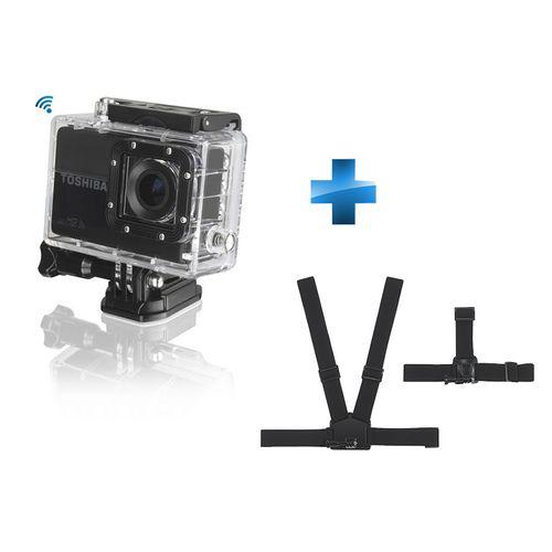 Camescope numerique Toshiba Camileo X-Sports - Noir + Harnais