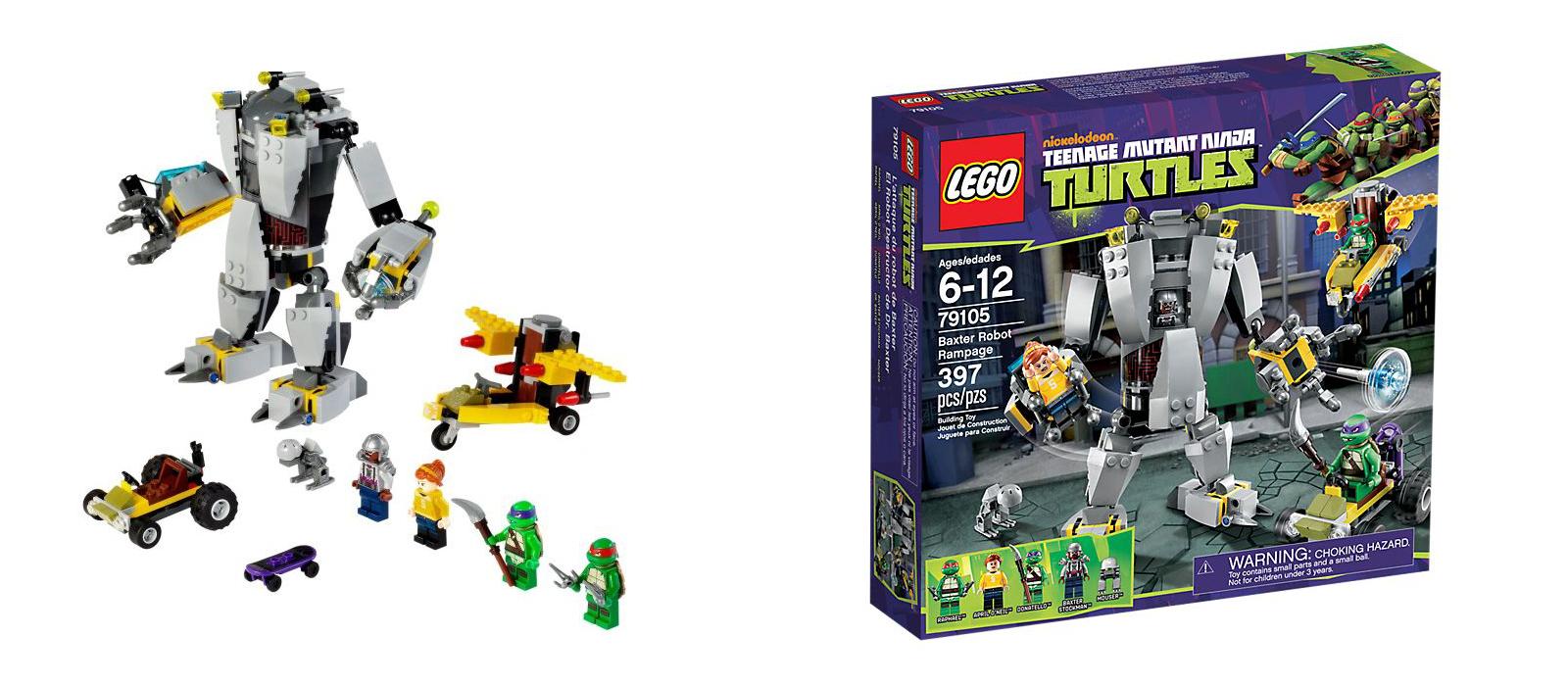 Lego Tortues Ninja 79105 - L'attaque du robot de Baxter