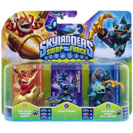 Sélection de jeux et figurines Skylanders en promotion - Ex : Triple Pack Skylanders Swap Force