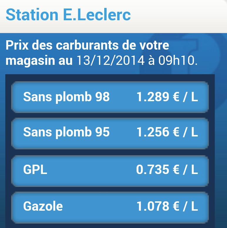 Essence à prix coûtant - Ex : Gasoil à 1.08€