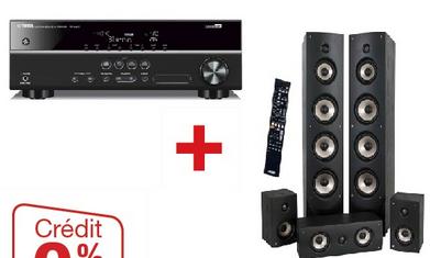Pack enceintes Eltax 5.0 + Ampli Yamaha HTR 2067 tuner home cinéma