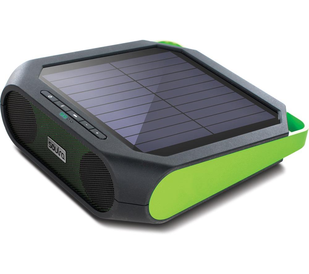 Haut-parleur sans fil Bluetooth à recharge solaire Soulra Rugged Rukus - Vert