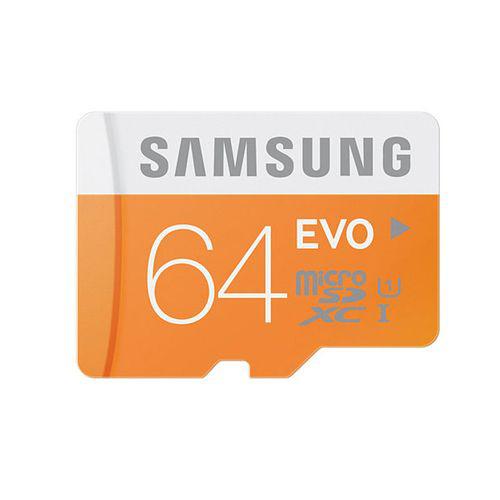 Carte mémoire Micro SDXC SAMSUNG EVO - 64 Go - Classe 10