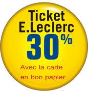 30 à 50% de remise en tickets Leclerc sur cd, dvd, jouet, lingerie, déco...