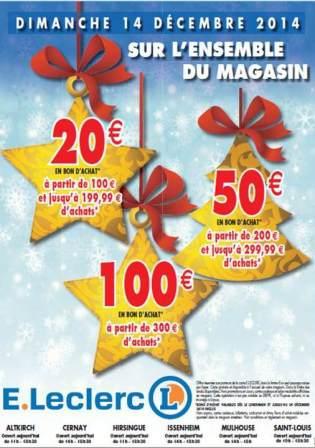 20€ en bon d'achat à partir de 100€ d'achat, 50€ à partir de 200€ et 100€ à partir de 300€