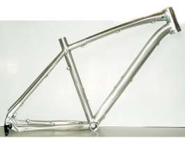 Cadre VTT Poison-Bikes Zyankali brut argent 26'' taille L