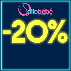20% de reduction sur tout le site sans minimum d'achat