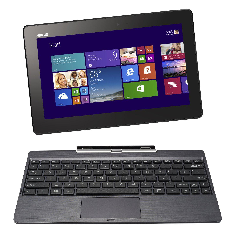 """PC Portable Hybride 10,1"""" Asus Transformer Book T100TAM (Intel Atom, 2 Go RAM, HDD 1 To + eMMC 32 Go, W 8.1) + Carte cadeau de 50€"""