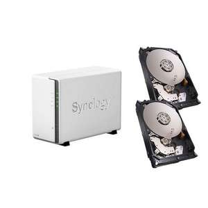 Serveur de stockage NAS Synology DS215j + 2 x Disque dur Seagate NAS HDD 2 To