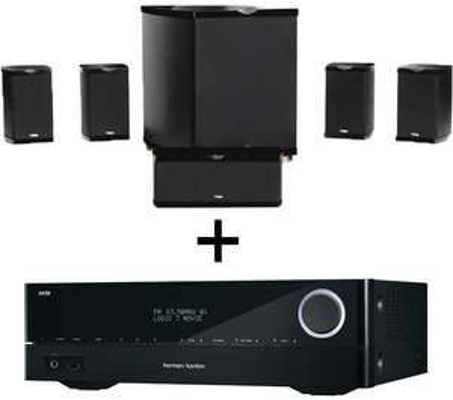 Pack Home cinéma Ampli 5.1 Harman Kardon AVR151 + Pack d'enceintes Advance MAV 501