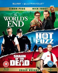 Coffret Blu-Ray The Worlds End / Hot Fuzz / Shaun of the Dead + COPIE DIGITALE