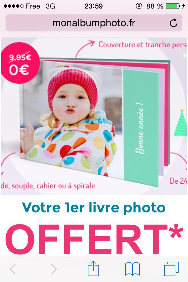 Album photo offert / 5,99€ de port