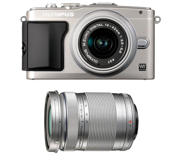 Appareil photo Olympus Pen Lite E-PL5 + 2 objectifs M.Zuiko Digital 14-42 mm II + Digital 40-150 mm