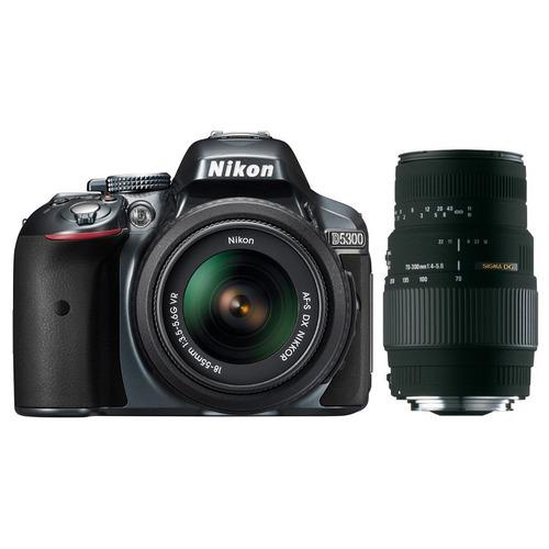 Reflex Nikon D5300 + Objectifs 18-55 mm VR II et Sigma 70-300 mm (ODR de 50€)