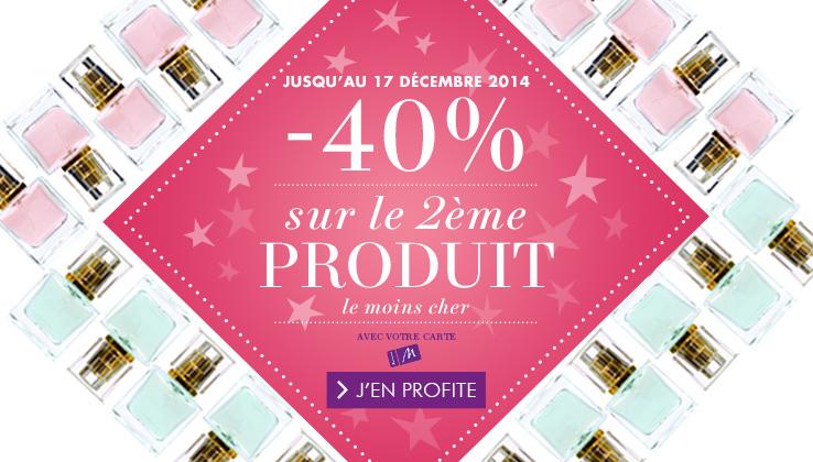 -40% sur le 2ème parfum